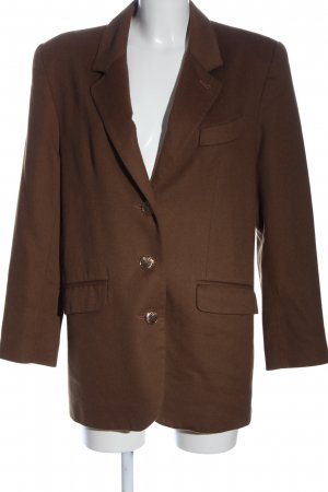 Cashmere and Wool Long Blazer brown casual look