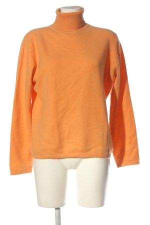 Cashmere Sudadera de cachemir naranja claro look casual