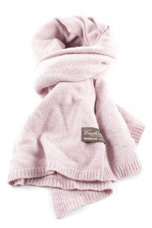 cashmere collection Gebreide sjaal roze casual uitstraling