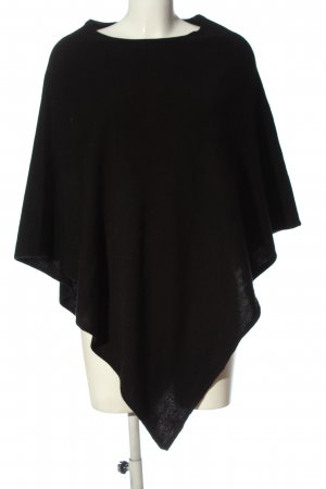 Cashmere-Feeling Knitted Poncho black casual look