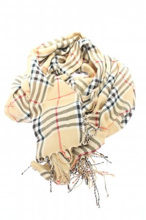 Cashmere Fringed Scarf allover print casual look