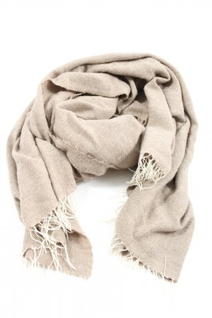 Cashmere Fringed Scarf light grey casual look
