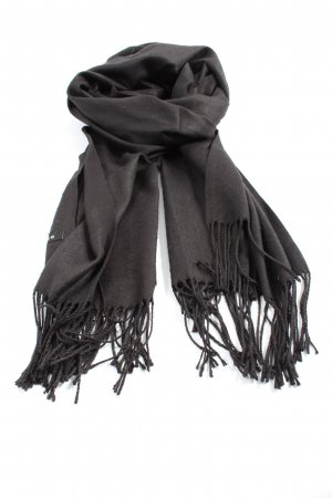 Cashmere Fringed Scarf light grey striped pattern casual look
