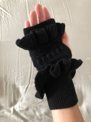 Club Monaco Fingerless Gloves black