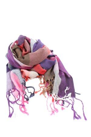 Cashmere Bufanda de flecos estampado con diseño abstracto look casual