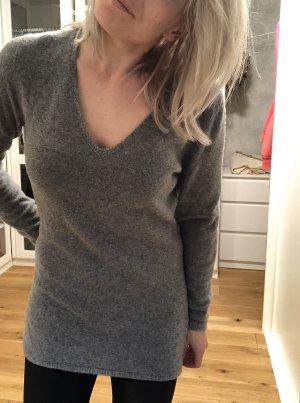 van Laack Long Sweater grey cashmere