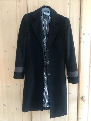 Strenesse Blue Cappotto in lana nero-blu scuro