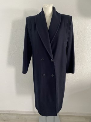 Cashmere Mantel Vintage 38/40 Mathews Dunkelblau