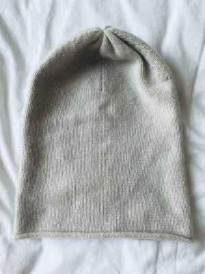 Allude Beanie light grey-oatmeal cashmere