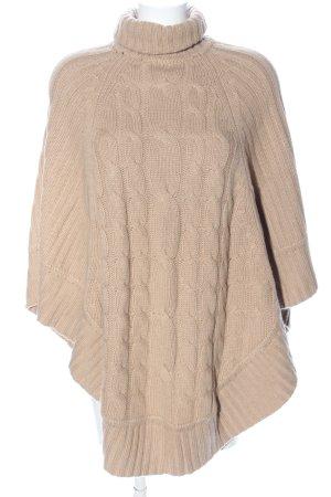 Cashmere products Poncho bianco sporco punto treccia stile casual