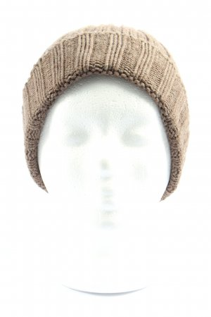 Cashmere Knitted Hat brown cable stitch casual look