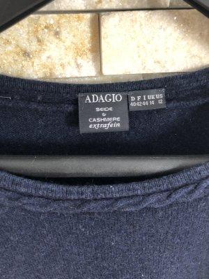 Adagio Sudadera de cachemir azul oscuro