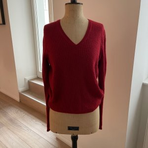 Cashmere-Pulli in karminrot
