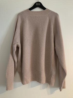 H&M Conscious Exclusive Kaszmirowy sweter stary róż