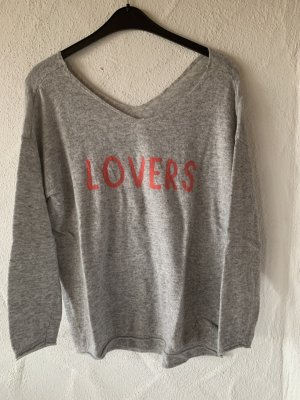 Reken Maar Pullover in cashmere grigio chiaro Lana