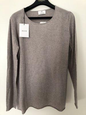 Allude Kaszmirowy sweter beżowy-szaro-brązowy