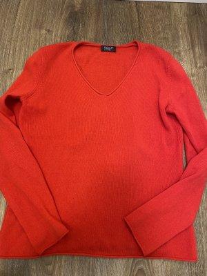 BECK Kaszmirowy sweter czerwony