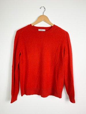 Zara Kaszmirowy sweter czerwony