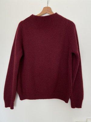 Anine Bing Kaszmirowy sweter bordo Kaszmir