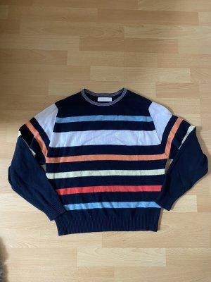 Cashmere Pullover dunkelblau gestreift
