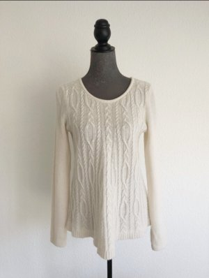 DESIGN History Knitted Sweater natural white-oatmeal