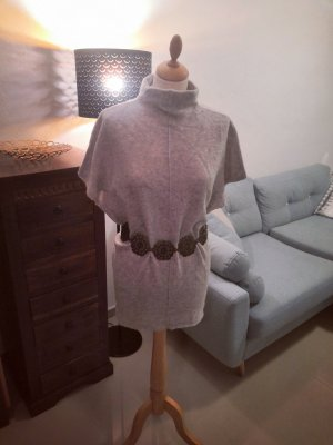 Cashmere Pullover grau hellgrau longpulli
