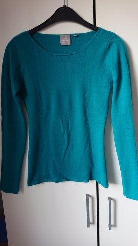 Donna Lane Kaszmirowy sweter morski Kaszmir
