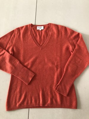 Cashmere Pullover in rostrot