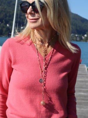 (The Mercer) NY Kaszmirowy sweter jasnoczerwony Kaszmir