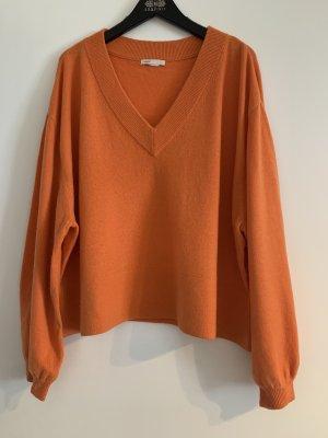 H&M Kaszmirowy sweter pomarańczowy