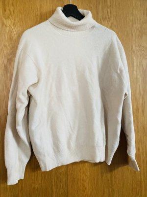 100% PURE CASHMERE Wool Sweater natural white-cream