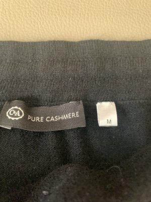 100% PURE CASHMERE Falda de lana negro