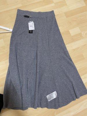 Yessica Premium Falda de lana color plata mohair