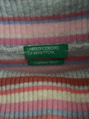 United Colors of Benetton Cashmere Jumper pink-natural white