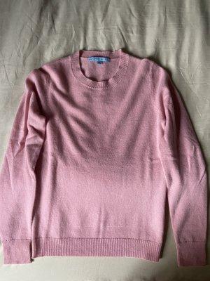 Pullover in cashmere rosa chiaro