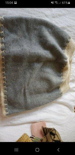 keine Écharpe en cachemire gris-blanc cassé