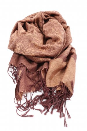 Cashmere Shoulder Scarf light orange-brown abstract pattern casual look