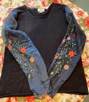 Alba Moda Cashmere Jumper black-dark blue cashmere