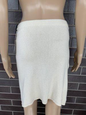 Jupe tricotée beige clair cachemire