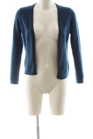 Cashmere Strickjacke blau Casual-Look