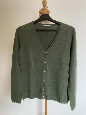 FTC Cashmere Cardigan khaki-olive green cashmere