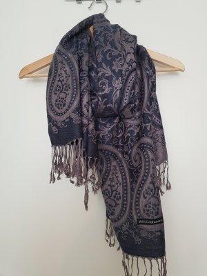 Bufanda de cachemir gris-azul oscuro
