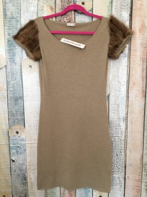 Joyce & Girls Woolen Dress camel-beige cashmere