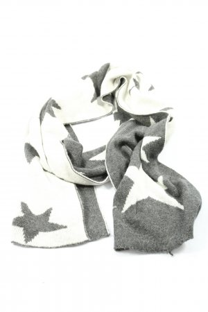 Cashmere Woolen Scarf white-light grey themed print casual look