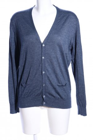 Cashmere Jumper blue flecked casual look