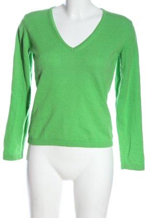 Cashmeritaly Kasjmier trui groen casual uitstraling