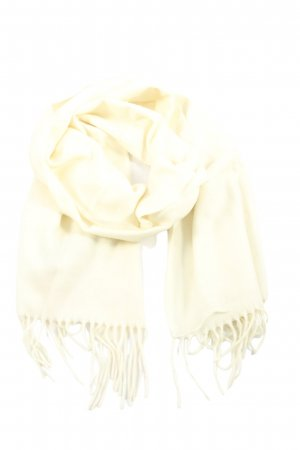 cashmink Fringed Scarf white casual look