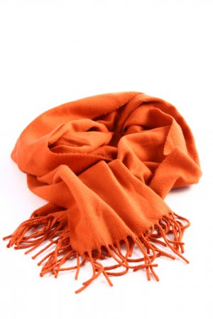 cashmink Fringed Scarf light orange casual look