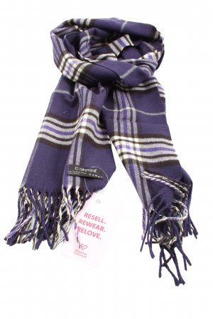 cashmink Fringed Scarf check pattern casual look