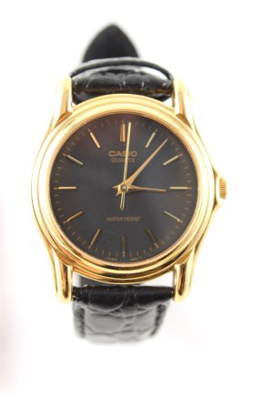 Casio Analoguhr goldfarben-schwarz Business-Look
